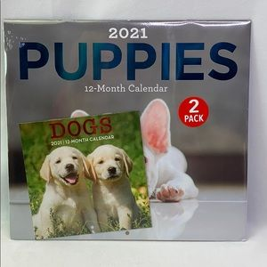 2021 Jot Puppies Wall Calendar 2 Pack 12-Month
